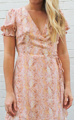 peaches & cream wrap dress [pink] - Grace and Edge Boutique