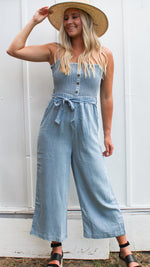 denim dreaming jumpsuit [light denim] - Grace and Edge Boutique