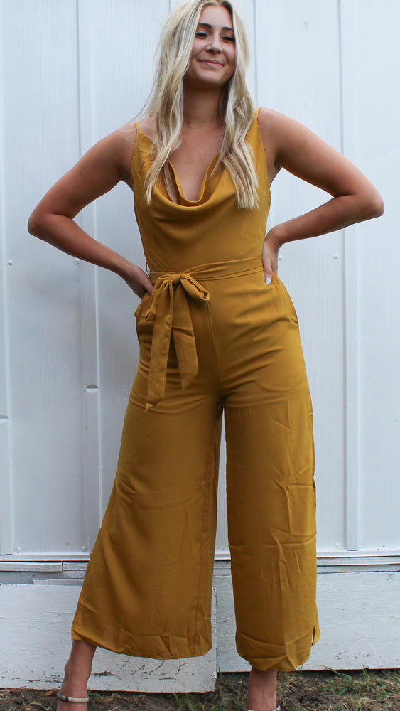 it's a date jumpsuit - mustard - Grace and Edge Boutique