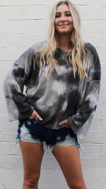 vibin' out waffle knit [gray] - Grace and Edge Boutique