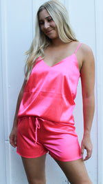 sleep the day away set [neon pink] - Grace and Edge Boutique