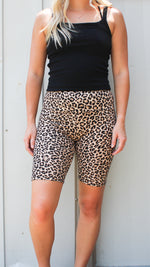 living wild biker shorts [leopard] - Grace and Edge Boutique