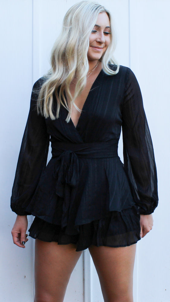 believe it or not romper [black] - Grace and Edge Boutique