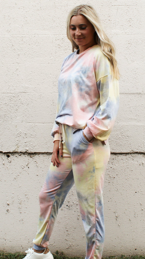 snuggle season tie dye set - Grace and Edge Boutique