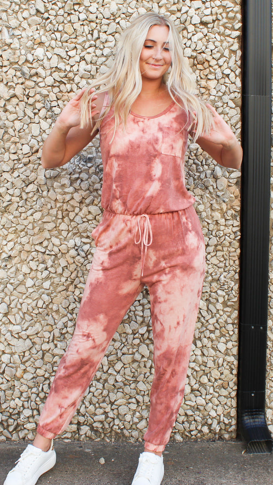 it's all good tie dye jumpsuit [pink]