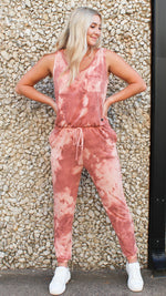 it's all good tie dye jumpsuit [pink] - Grace and Edge Boutique