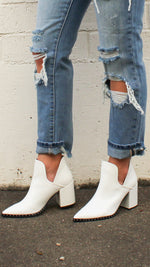 walk this way booties [white]