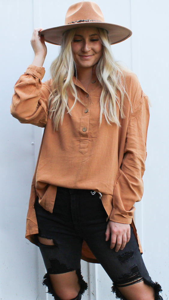 oversized button up long sleeve