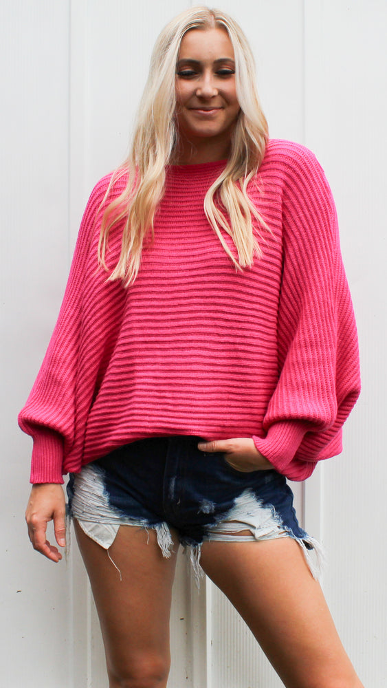 all time fav sweater [hot pink]