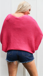 all time fav sweater [hot pink] - Grace and Edge Boutique