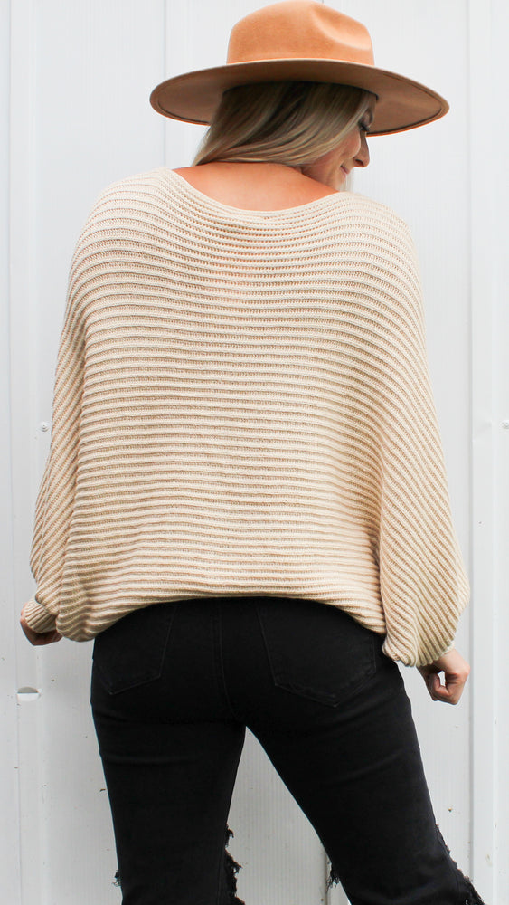 all time fav sweater [oatmeal] - Grace and Edge Boutique