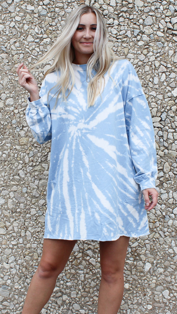 tie dye dress [blue] - Grace and Edge Boutique