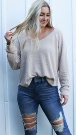 simply perfect sweater [beige] - Grace and Edge Boutique