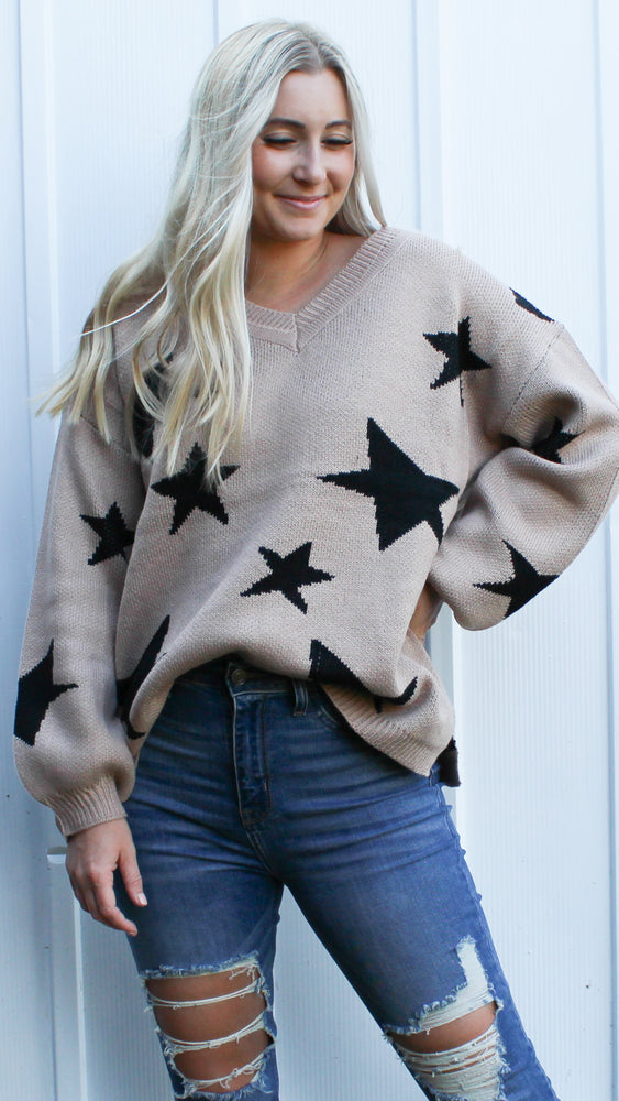shoot for the stars sweater [taupe]