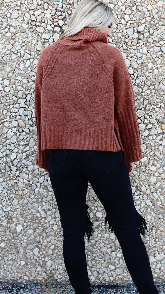 coffee date turtle neck [brown] - Grace and Edge Boutique