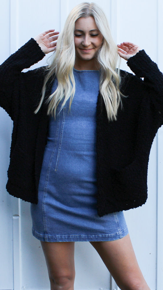 lost in the night cardigan [black] - Grace and Edge Boutique