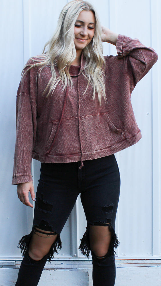 couch cuddling sweatshirt [mauve] - Grace and Edge Boutique