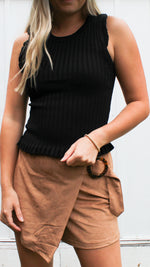 forever young sweater tank [black] - Grace and Edge Boutique