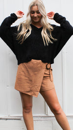 oh so soft sweater [black] - Grace and Edge Boutique