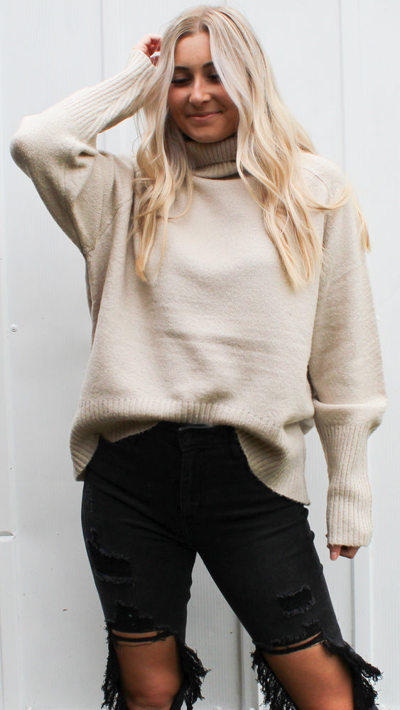 flirty flurries turtleneck sweater [alpaca]