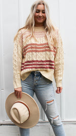 sweet as sugar sweater [beige] - Grace and Edge Boutique