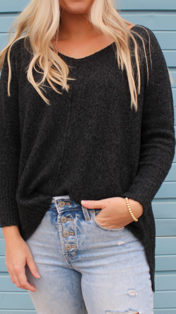 chasing dreams sweater in black