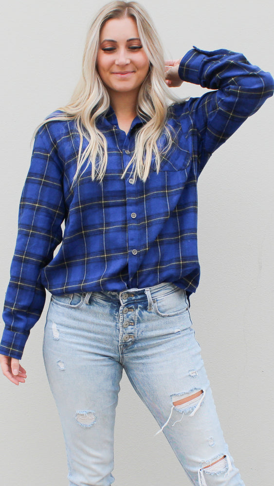 all about plaid [blue] - Grace and Edge Boutique