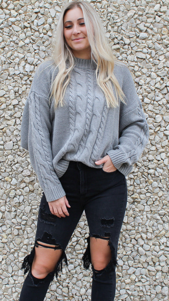 cable knit cutie [gray]
