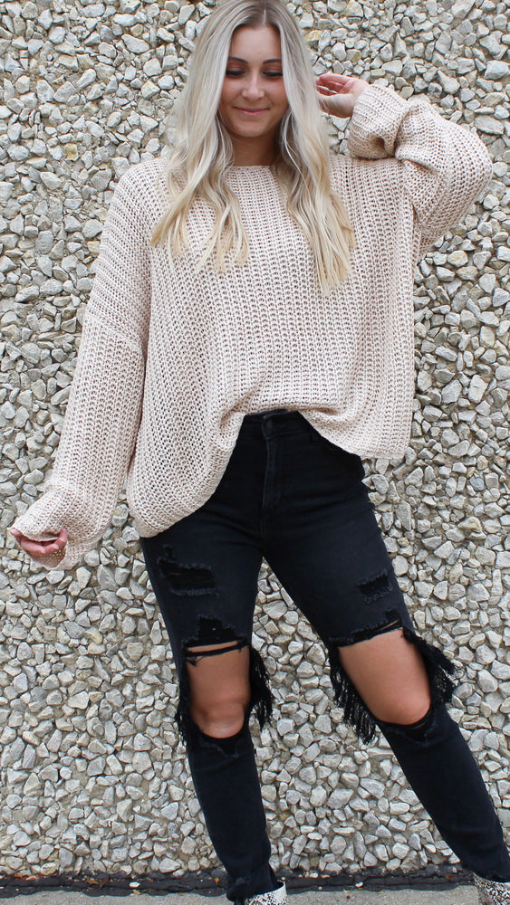 breezy nights sweater [taupe]