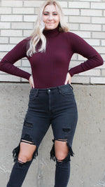 dinner date bodysuit [wine] - Grace and Edge Boutique