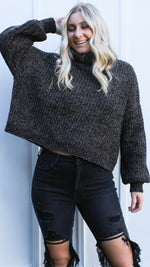 gloomy glam chenille sweater [grey] - Grace and Edge Boutique