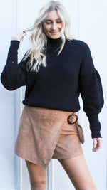 away in aspen sweater [black] - Grace and Edge Boutique