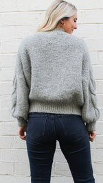 two way street sweater [grey] - Grace and Edge Boutique