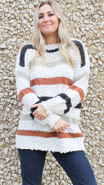 shades of fall striped sweater