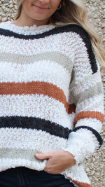 shades of fall striped sweater - Grace and Edge Boutique