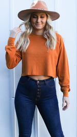timeless traveling cropped waffle knit [hazel] - Grace and Edge Boutique