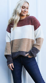 weekend ready color block sweater - Grace and Edge Boutique