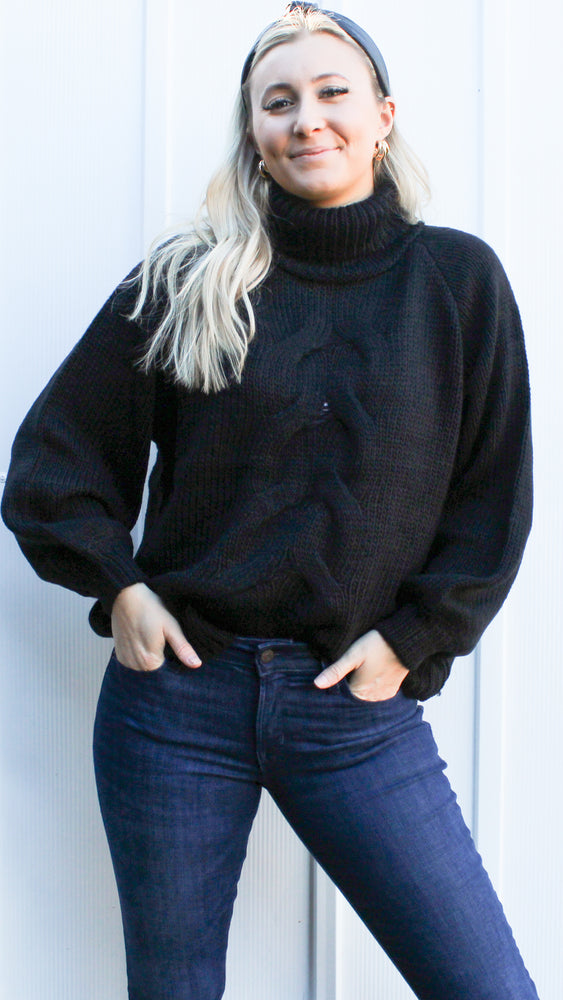 most likely to cuddle sweater [black]