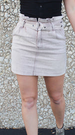 all heart denim skirt in mocha