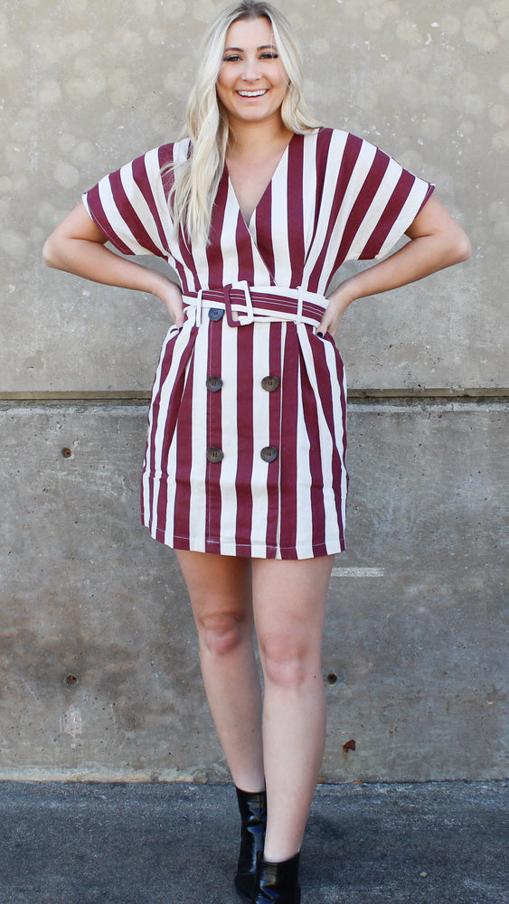 head turner dress [maroon]