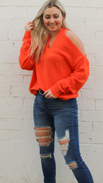 go the distance sweater [orange]