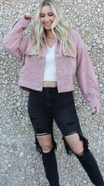 pretty in pink corduroy jacket [pink]