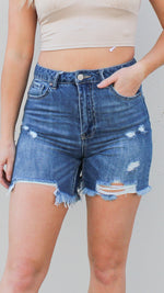 distressed boyfriend high waisted denim