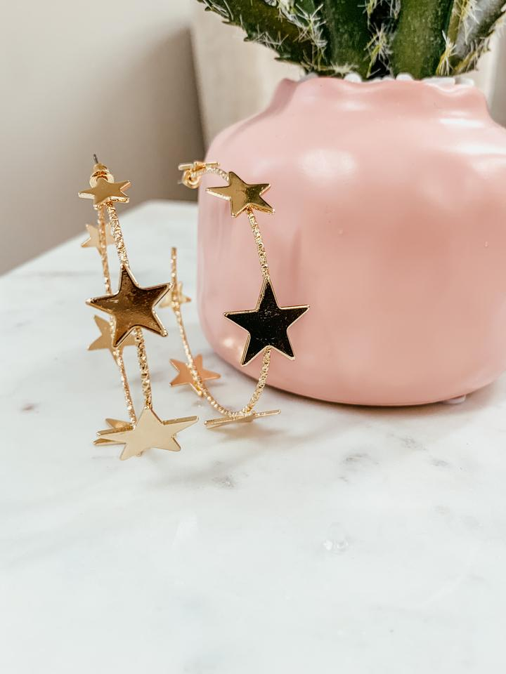 star texture hoops [gold]