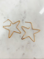 star shape hoops [gold] - Grace and Edge Boutique