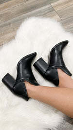 walk this way booties [black] - Grace and Edge Boutique