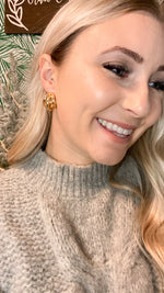 mini triple tube earrings [gold]