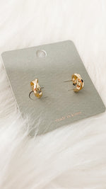 FREE FREE FREE! mini twist post earrings [gold]