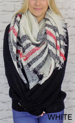 Plaid Square Scarf - Grace and Edge Boutique