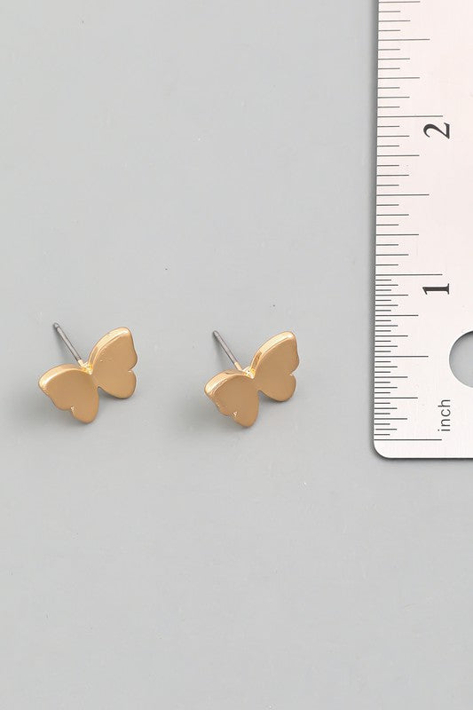 butterfly studs [gold] - Grace and Edge Boutique